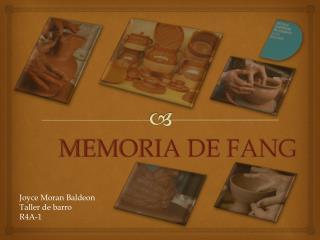MEMORIA DE FANG