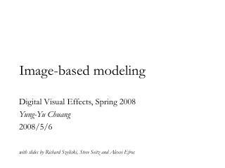 Image-based modeling