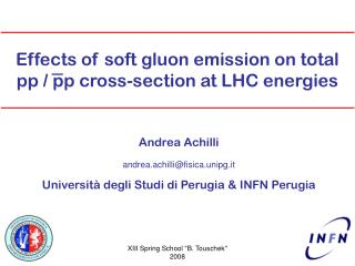 Effects of soft gluon emission on total pp / pp cross-section at LHC energies