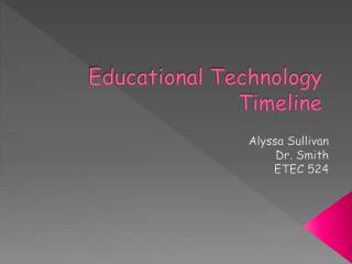 Educational Technology Timeline
