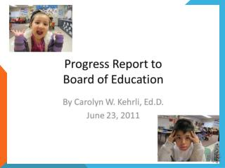 2010-2011 Superintendent End of Year Report