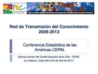 Conferencia Estadística de las  Américas CEPAL