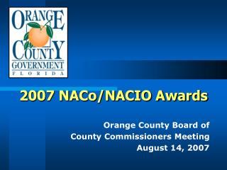 2007 NACo/NACIO Awards