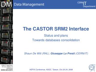 The CASTOR SRM2 Interface
