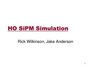 HO SiPM Simulation