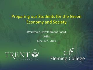 Preparing our Students for the Green      Economy and Society