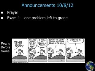 Announcements 10/8/12