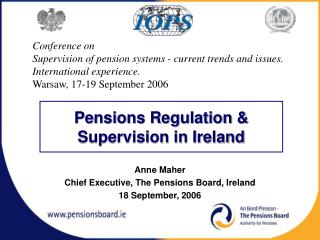 Pensions Regulation & Supervision in Ireland