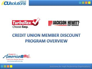 Credit Union Member Discount Program Overview