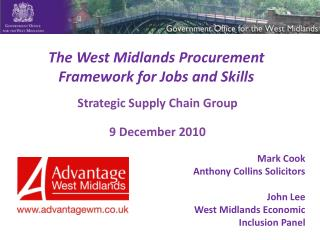 The West Midlands Procurement Framework for Jobs and Skills