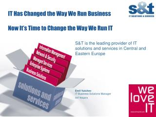IT Has Changed the Way We Run Business   Now It s Time to Change the Way We Run IT