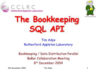 The Bookkeeping SQL API