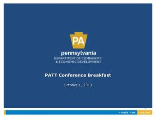 PATT Conference Breakfast October 1, 2013