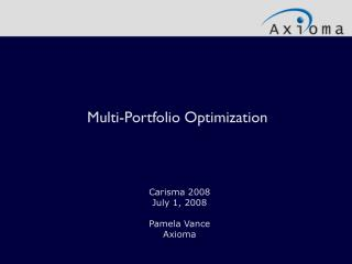 Multi-Portfolio Optimization