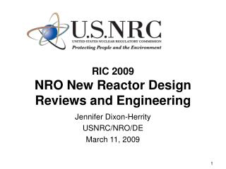 RIC 2009 NRO New Reactor Design Reviews and Engineering