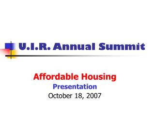 U.I.R. Annual Summit