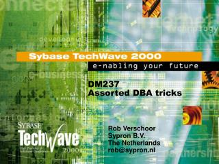 DM237 Assorted DBA tricks