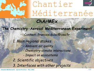 1. Main regional stakes - Ambient air quality - Chemistry-climate interactions
