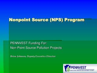 Nonpoint Source (NPS) Program