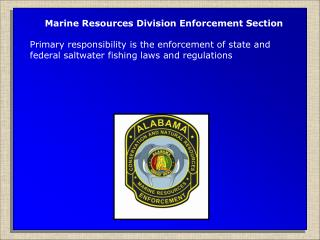 Marine Resources Division Enforcement Section