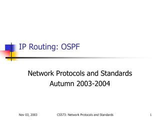 IP Routing: OSPF
