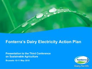 Fonterra's Dairy Electricity Action Plan