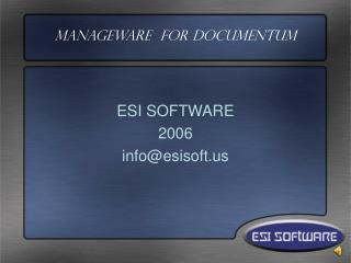 Manageware  For Documentum
