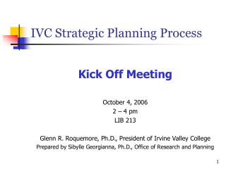 IVC Strategic Planning Process