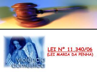 LEI Nº 11.340/06 (LEI MARIA DA PENHA)