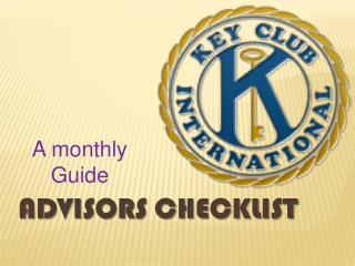Advisors Checklist