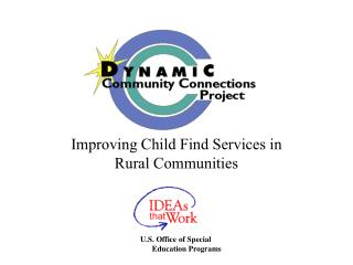 Improving Child Find Services in Rural Communities