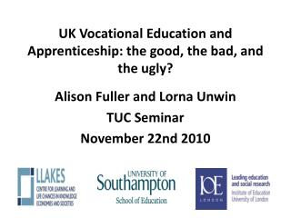 UK Vocational Education and Apprenticeship:  the good, the bad, and the ugly?