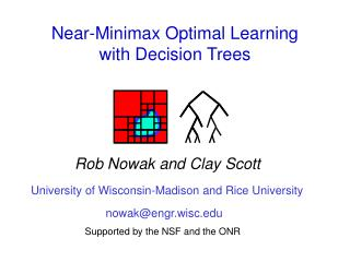 Near-Minimax Optimal Learning  with Decision Trees