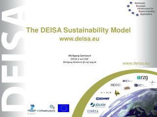 The DEISA Sustainability Model deisa.eu