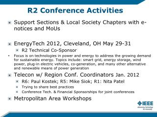 R2 Conference Activities