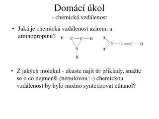 Domácí úkol - chemická vzdálenost