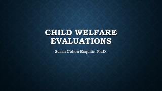 Child Welfare Evaluations