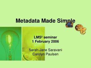 Metadata Made Simple