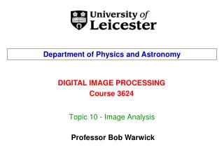 Topic 10 - Image Analysis