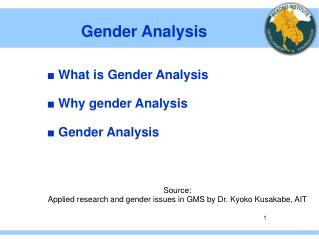 Gender Analysis