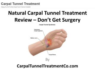 Best Natural Carpal Tunnel Treatment Review