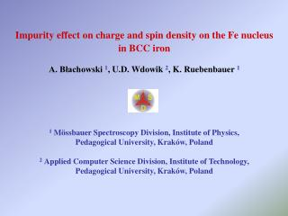 Impurity effect on charge and spin density on the Fe nucleus  in BCC iron