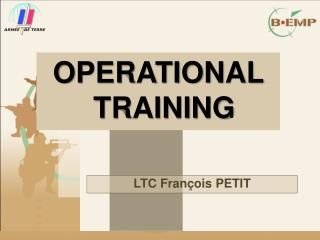 OPERATIONAL TRAINING