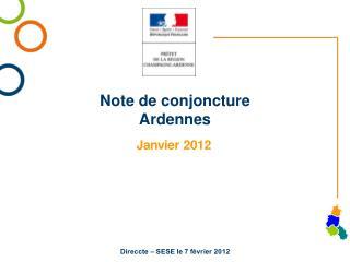 Note de conjoncture Ardennes