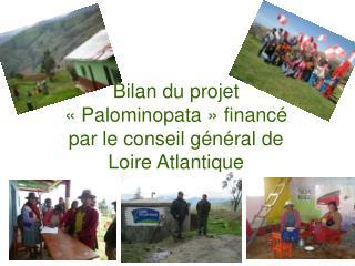 Bilan du projet «Palominopata» financé par le conseil général de Loire Atlantique