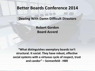 Boardroom Alignment