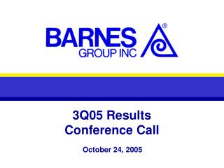 3Q05 Results Conference Call