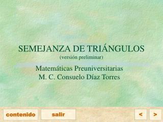 SEMEJANZA DE TRIÁNGULOS (versión preliminar)