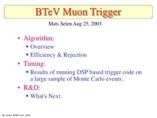 BTeV Muon Trigger