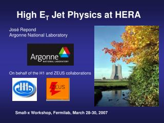 High E T  Jet Physics at HERA